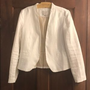 Loft white linen blazer